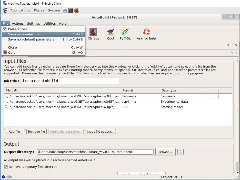 Phenix GUI slurm scheduling